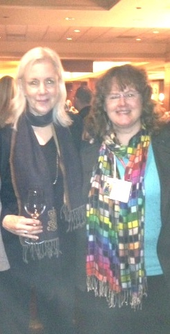 Here, I am with my editor and publisher, Nancy Paulsen. I could write something very long about how phenomenal she is, but then she'd have to edit it. :-)  So, let's just say that I'm blessed.