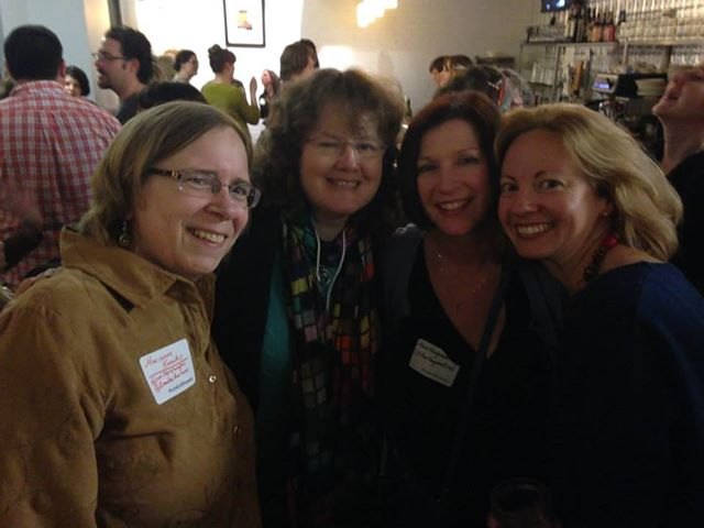 At a fun Tweet-up with Marianne Knowles, Ann Haywood Leal, and Emily Mitchell