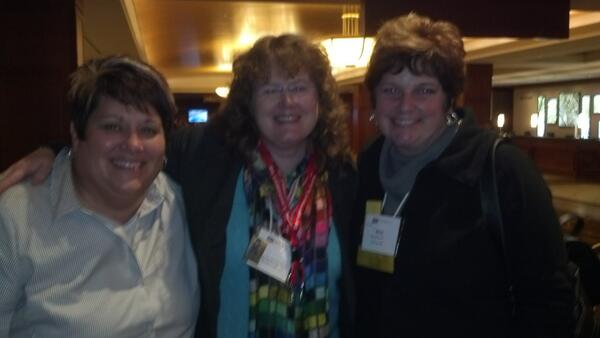 Chatting with these great ladies about books. Thanks, Heather Jensen :-)
