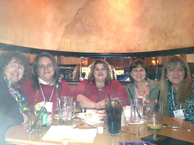 Dessert with some of my favorite Maine ladies: Susan Dee, Mary , Gigi McAllister, and Mary Lou Shuster