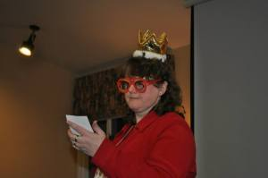 This year's get-up as Kid-lit Jeopardy emcee.