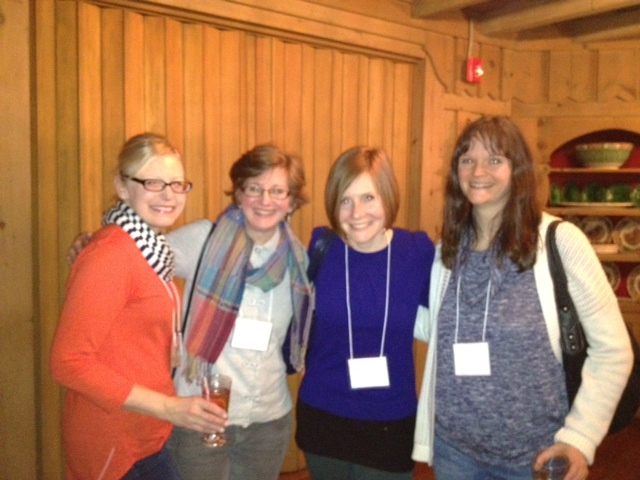 Awesome ladies--Kim Savage, Cameron Rosenblum, Annie Cardi, and Caroline Webster
