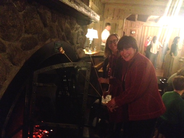 Instead, we made s'mores in the fireplace. Which was still pretty great :-)  As evidenced by the experts, Sarah and Jean.