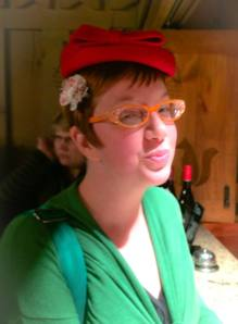 The fabulous Kirsten Cappy and her red hat picture.