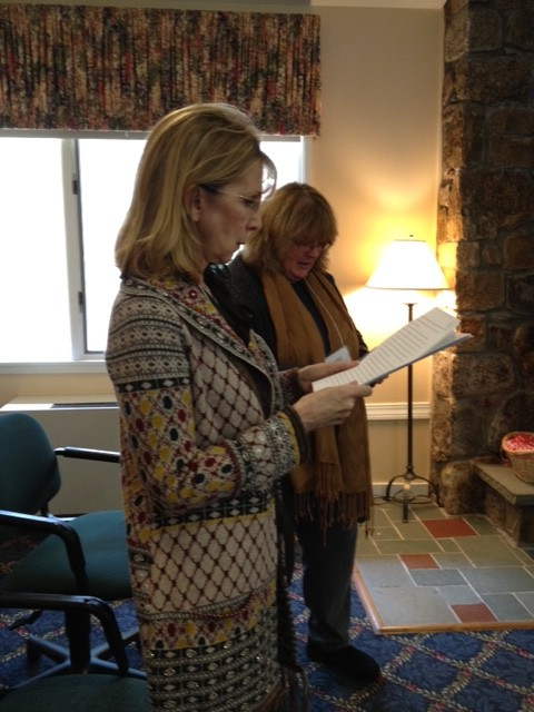 Our wonderful First Page Readers, Mary Pierce and Jenny Bagdigian