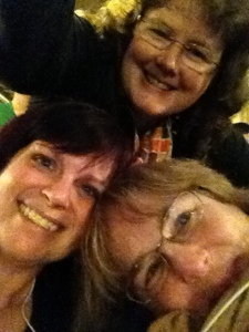 Circle of friends. Me, Penny Piva, and Jenny Bagdigian