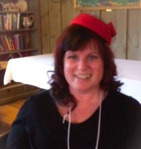 Penny Piva rocks the red hat shot!