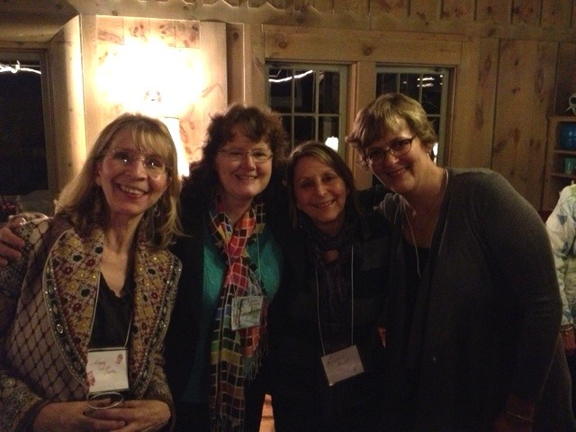 Moi with dear friends--and talented ladies--Mary Pierce, Laurie Murphy, and Jennifer Thermes