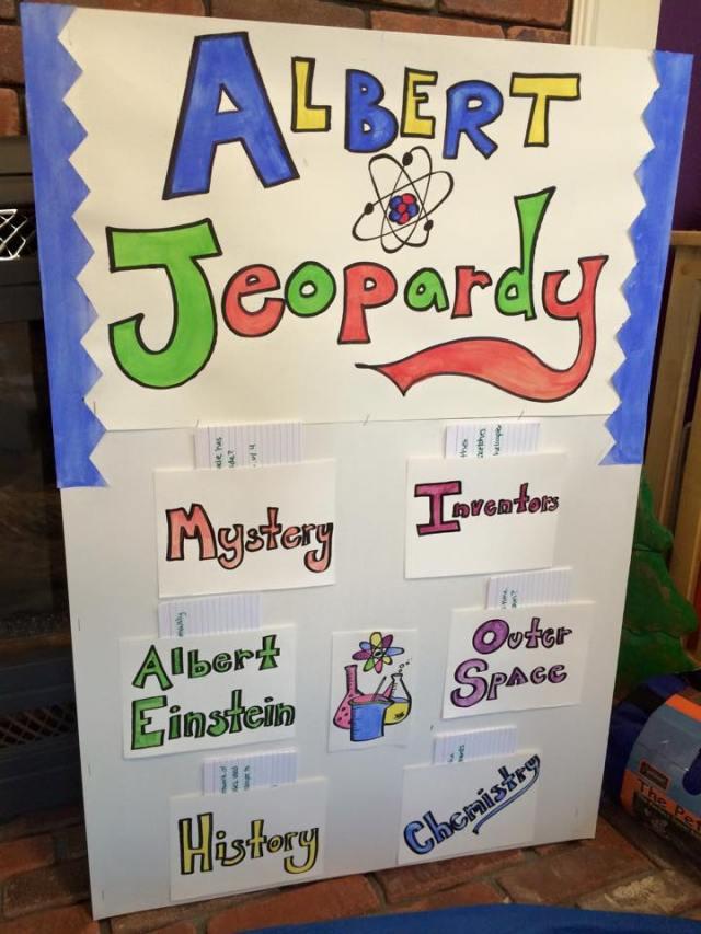 Albert Jeopardy board :-)