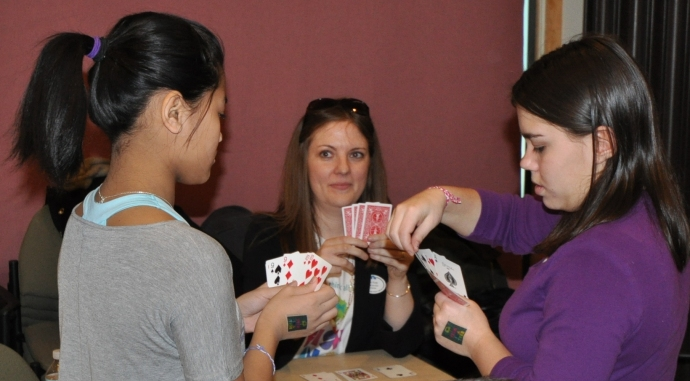 West Hartford Librarian, Kari Karp, plays GO FISH!