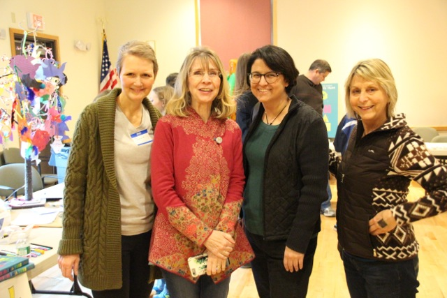 So happy to see these friends! Jeanne, Mary, Liz and Laurie :-)