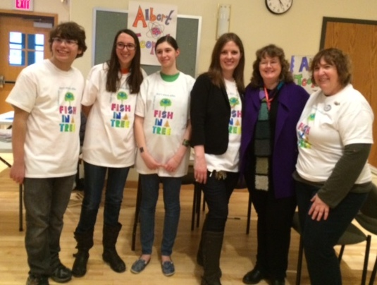 Three *very* helpful members of the Teen Advisory Board, and West Hartford librarians, Kari Karp and Janet Murphy.