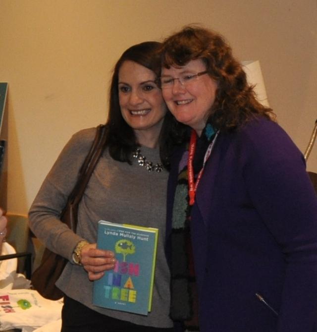 Teacher, Melanie Swider, winner of the author visit. :-) Can't wait to visit her school!