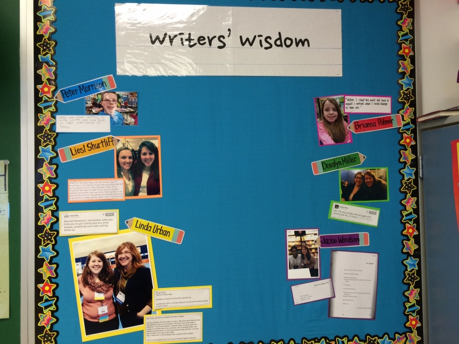 I LOVED the Writer's Wisdom wall! And I even got to add something :-)