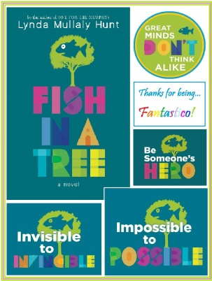 Fish in a Tree cover and badges POSTER 18 x 24