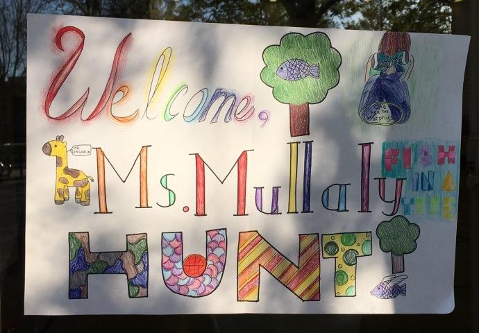 Welcome sign school