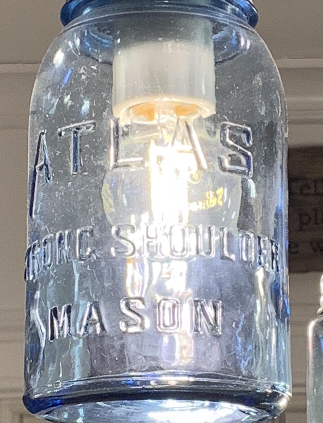 blue strong shoulder jar