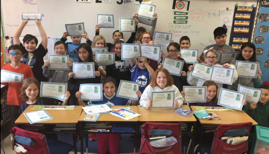 These students, along with their teacher, Kristen Clark Mimlitz, decided to get a jump on this idea and created their own event. How cool is THAT?! Teachers - feel FREE to print the certificate and use with your kids :-)