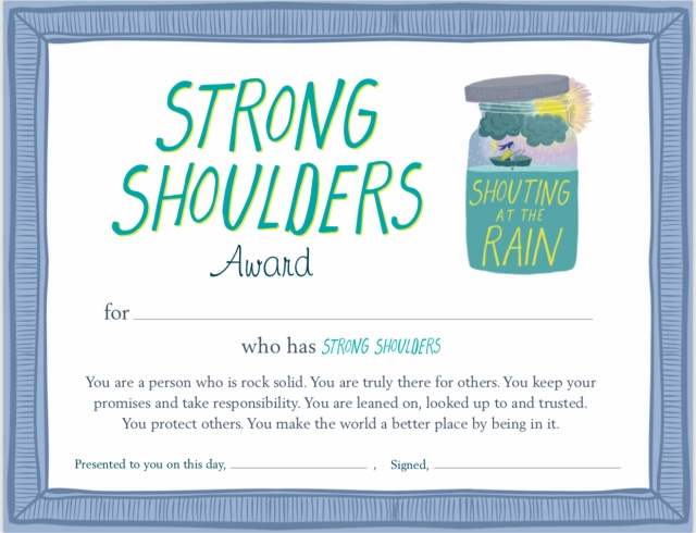 strong shoulder award certificate