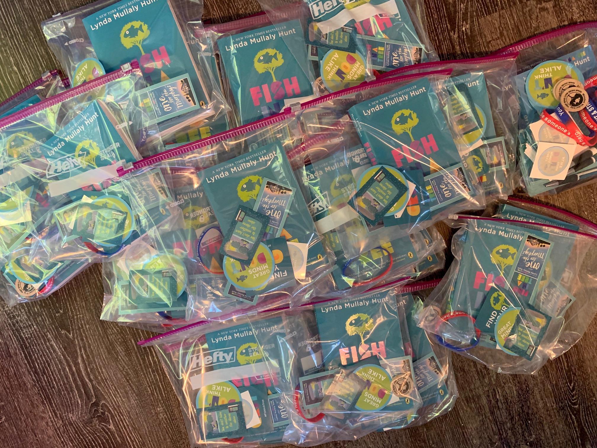 book packs in bags